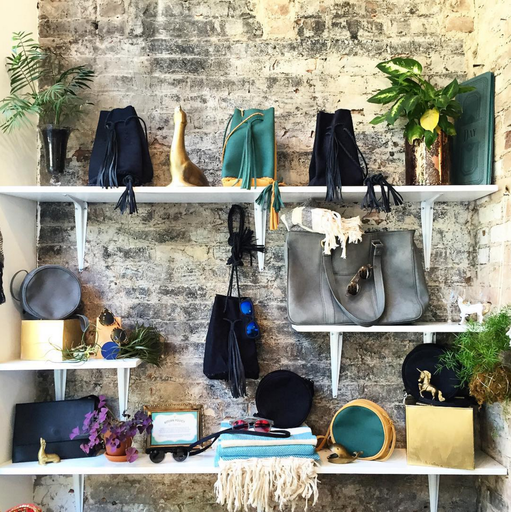 Retail shelving display designed & installed at the famous Jill Lindsey boutique in Brooklyn, NY (2014)