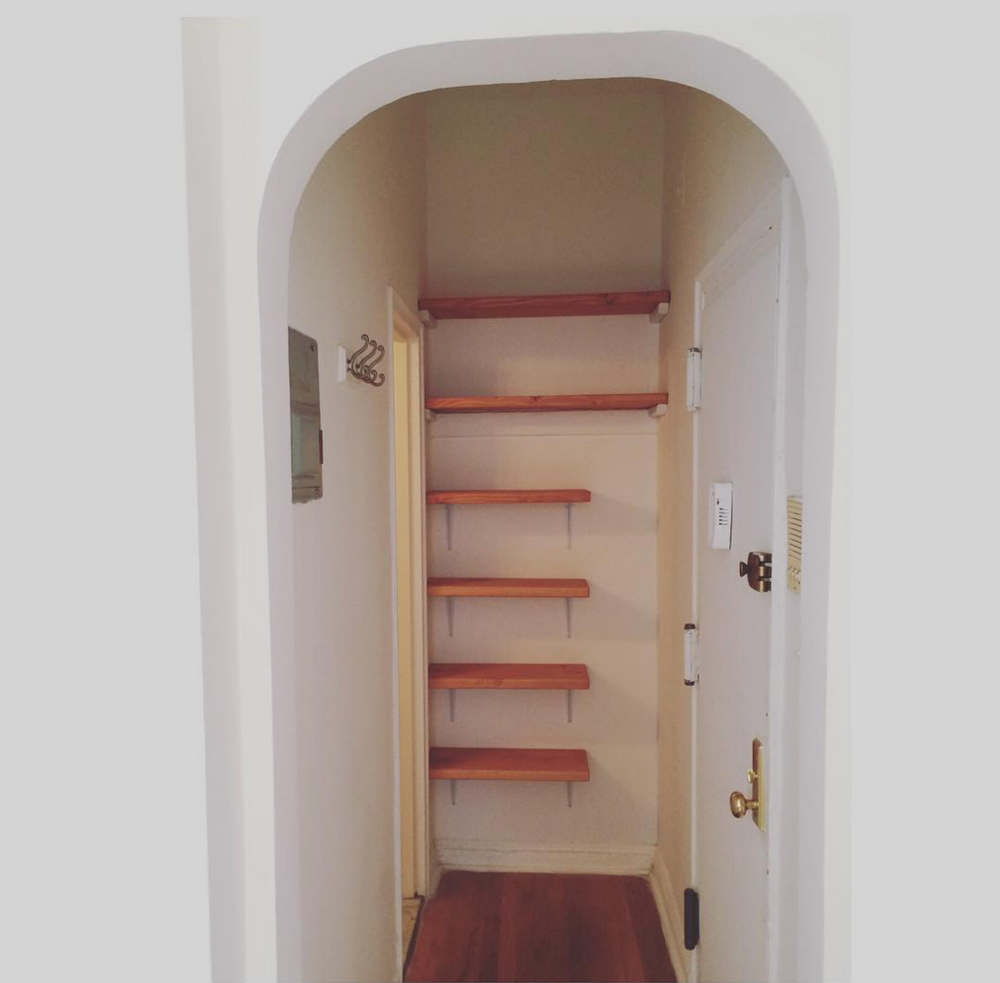 A little storage shelving for a friend's new apartment (2015)