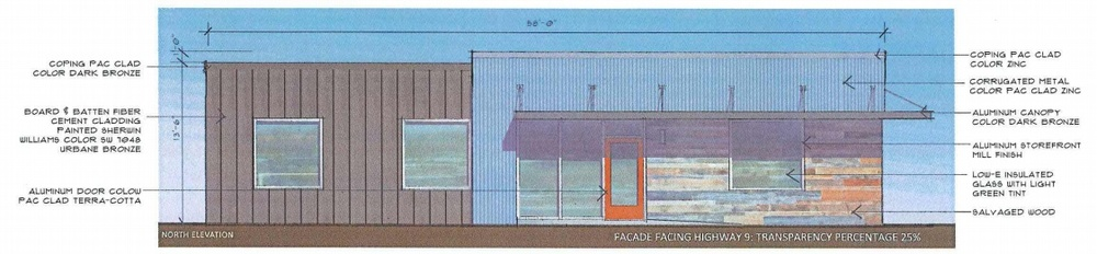 Front of new design facing Alpharetta St.