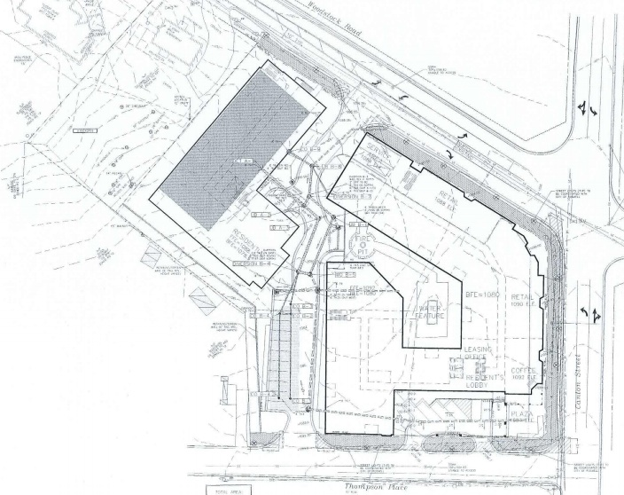 Current site plan for the Vickers Village 2.0 plans.