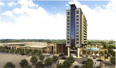 Rendering of the Avalon Hotel and Convention Center.