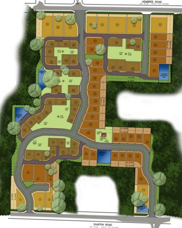 Revised site plan that removed townhomes and reduced overall density to 3.7 units per acre.
