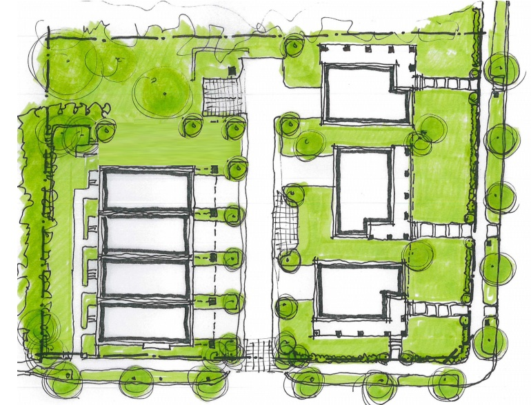 Site plan for 835 Mimosa