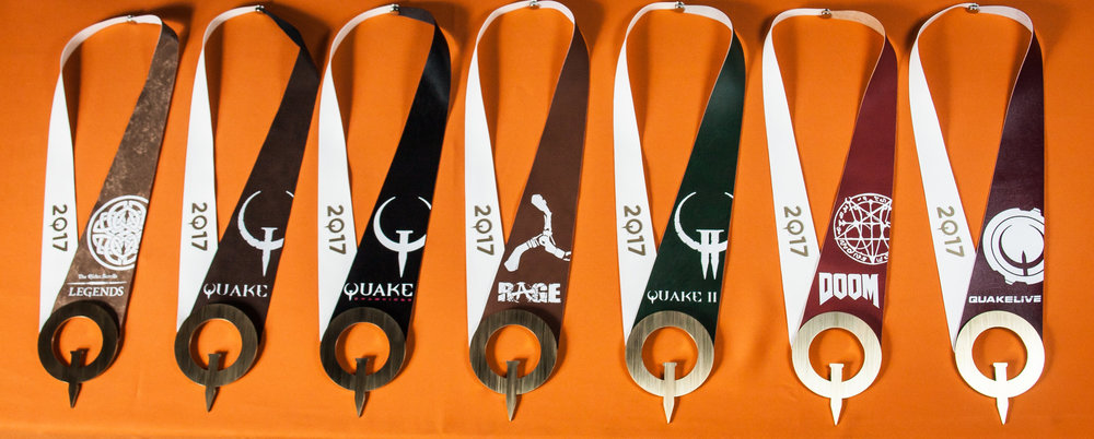 QuakeCon 2017 Community Competition medals