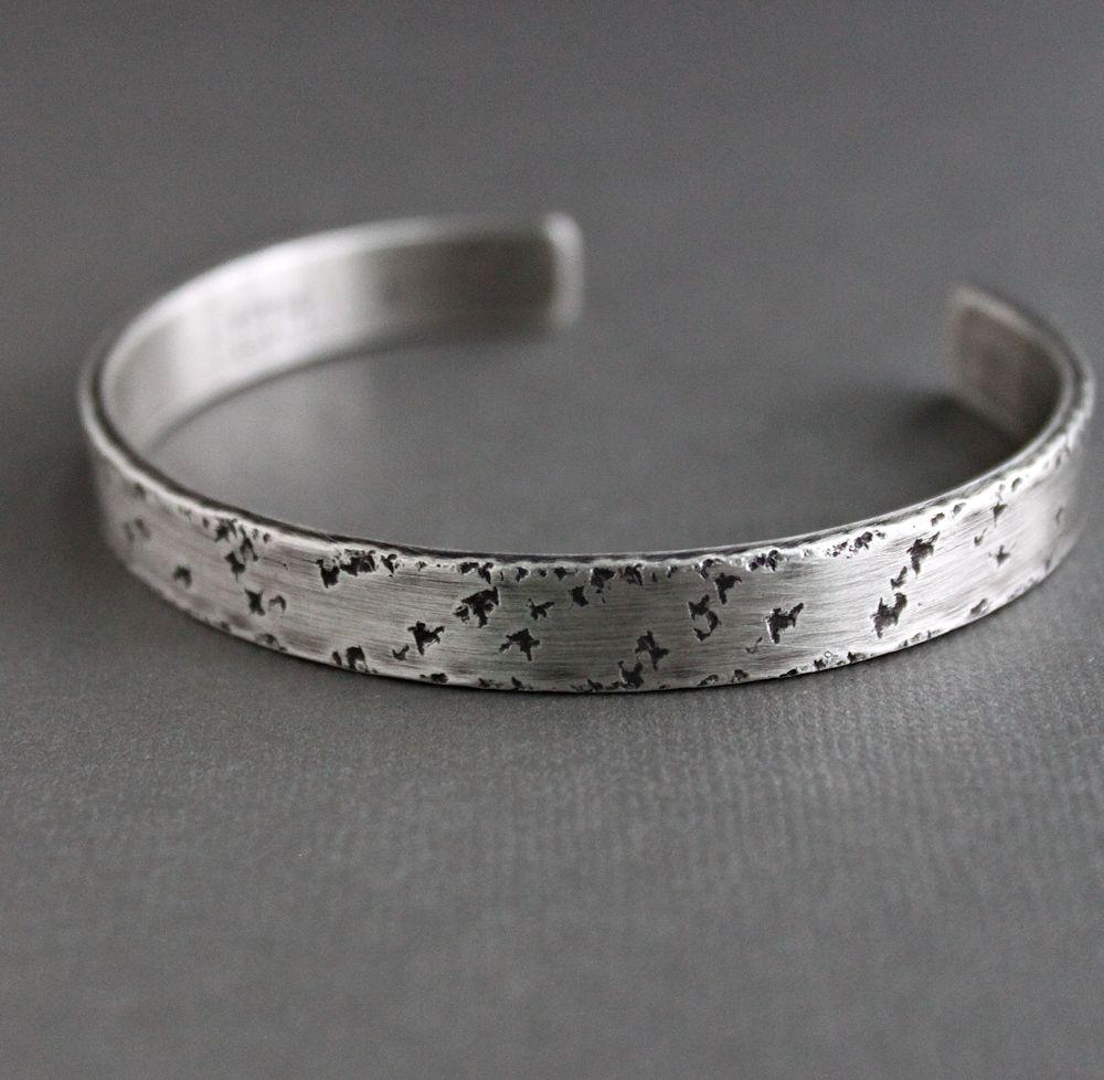 c471762882291 Men's Industrial Style Sterling Silver Cuff Bracelet — Lynn Todd Designs