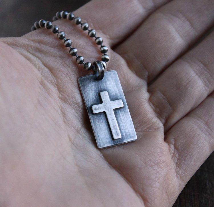 Mens small rustic silver cross pendant lynn todd designs mens small rustic silver cross pendant aloadofball Gallery