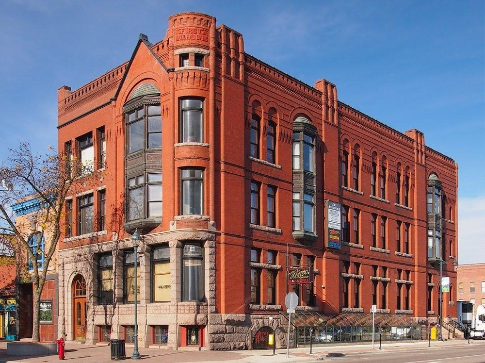The historic First National Bank Building at 501 W. St. Germain Street.  GSDC, St. Cloud Downtown Council and Initiative Foundation will be on the first floor.