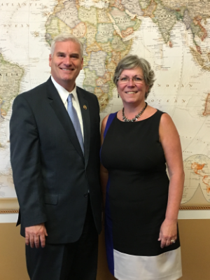 Patti Gartland visits Congressman Emmer in Washington, D. C.