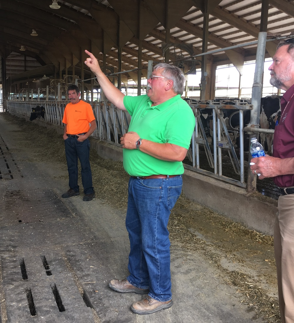 Owner Mike Landwehr leads a tour of his dairy farm operation located in Watkins, MN.