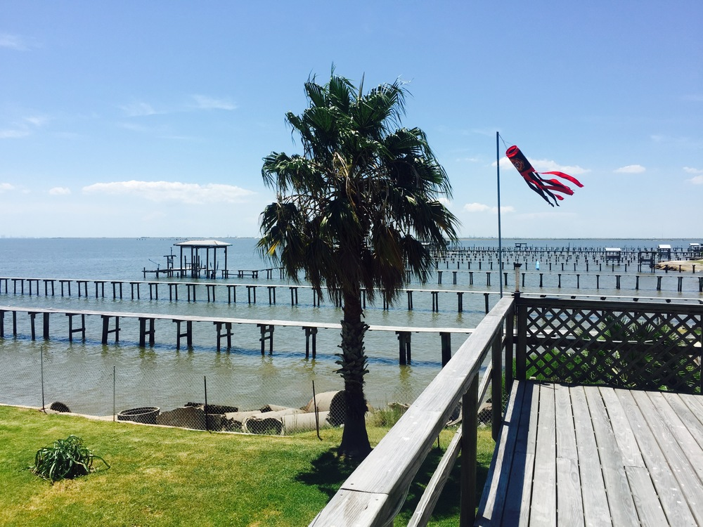 View over looking Galveston Bay.