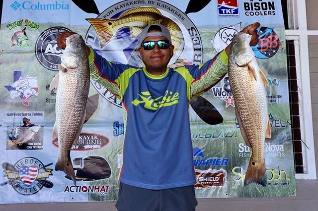 Saturday was a tough day. There were definitely big fish around, but couldn't get any to hook up. I ended up weighing these 2 in at 11.66 lbs.