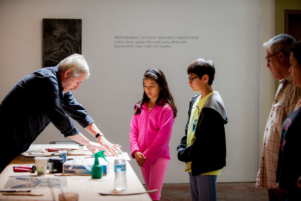 Hands-On Printmaking Station with Artist, Oscar Aguilar