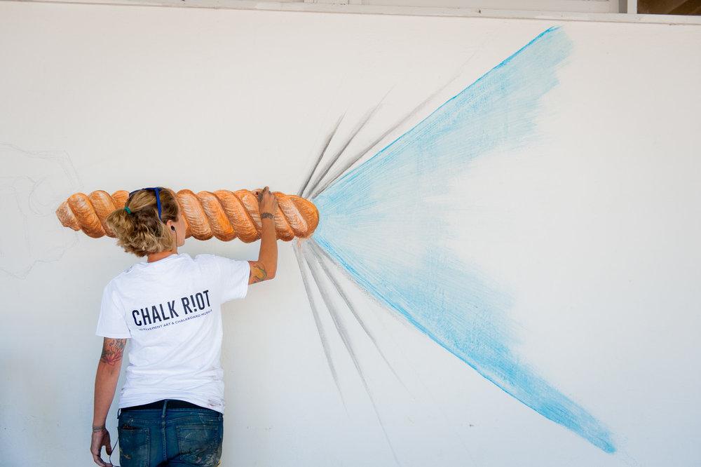Chelsea Ritter-Soronen of Chalk Riot