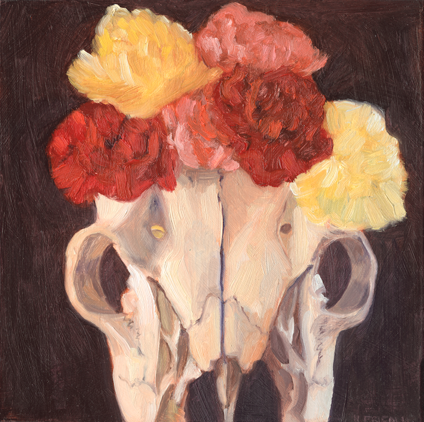 Deer Skull Frida   SOLD    Purchase print