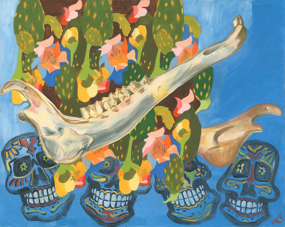 """Vida a los Muertos   Oil on Canvas  24"""" x 36""""    Purchase print"""