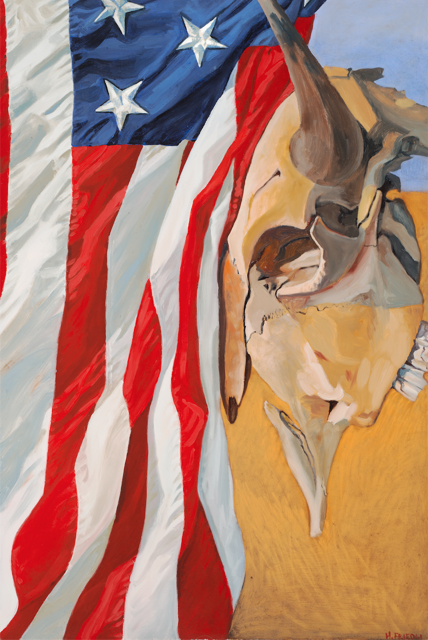 """How The West Was Won   Oil on Canvas  24"""" x 36""""    Purchase print       America the Free, America the Beautiful. But how did we get here? Many forget that millions of sacred Bison were slaughtered during the Euro-American expansion westward in a mad dash of """"Manifest Destiny""""...   Read more  ..."""