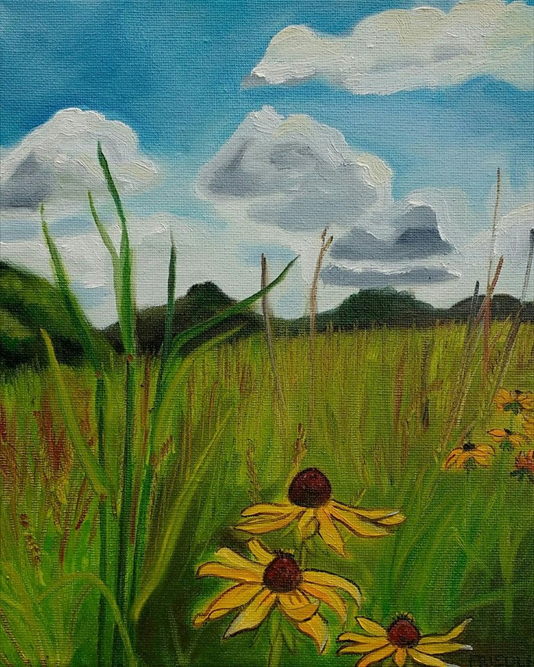 "Prairie and Sky  2017  8""X10""  Oil on Canvas  Available  $460    Limited Edition Giclee Prints Available"