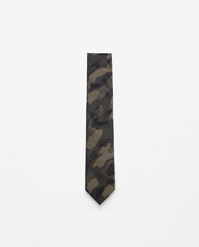Zara Wide Camouflage Tie