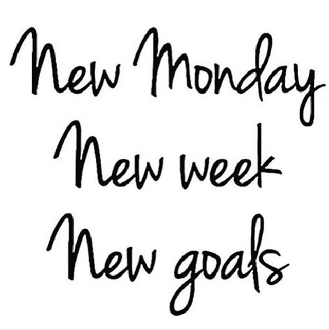 What are your goals this week? #mondaymotivation
