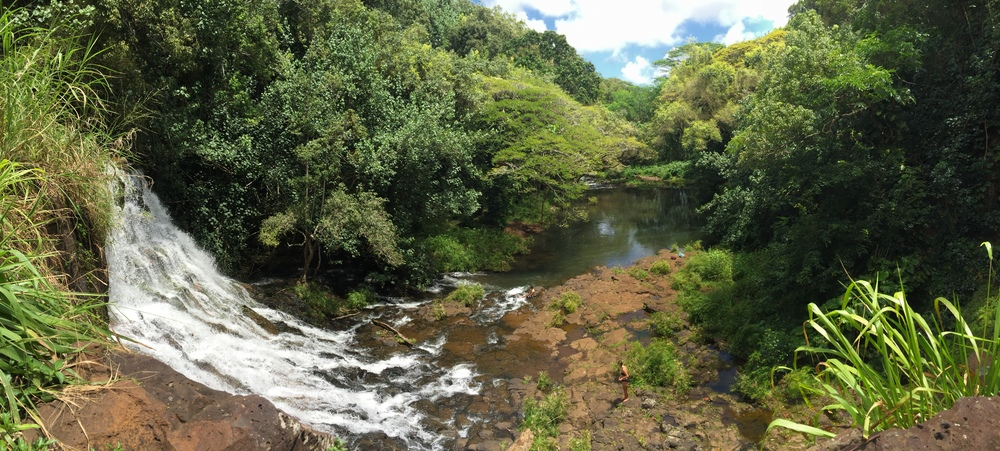 Ho'opi waterfalls, Hawaii, April 2016