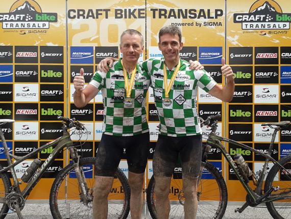 Marc Schneider und Rudolf Muhl beenden erfolgreich die Bike-Transalp