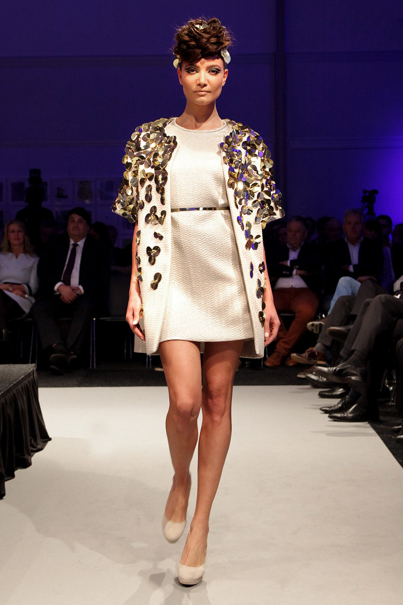 Embroidered silk coat and dress