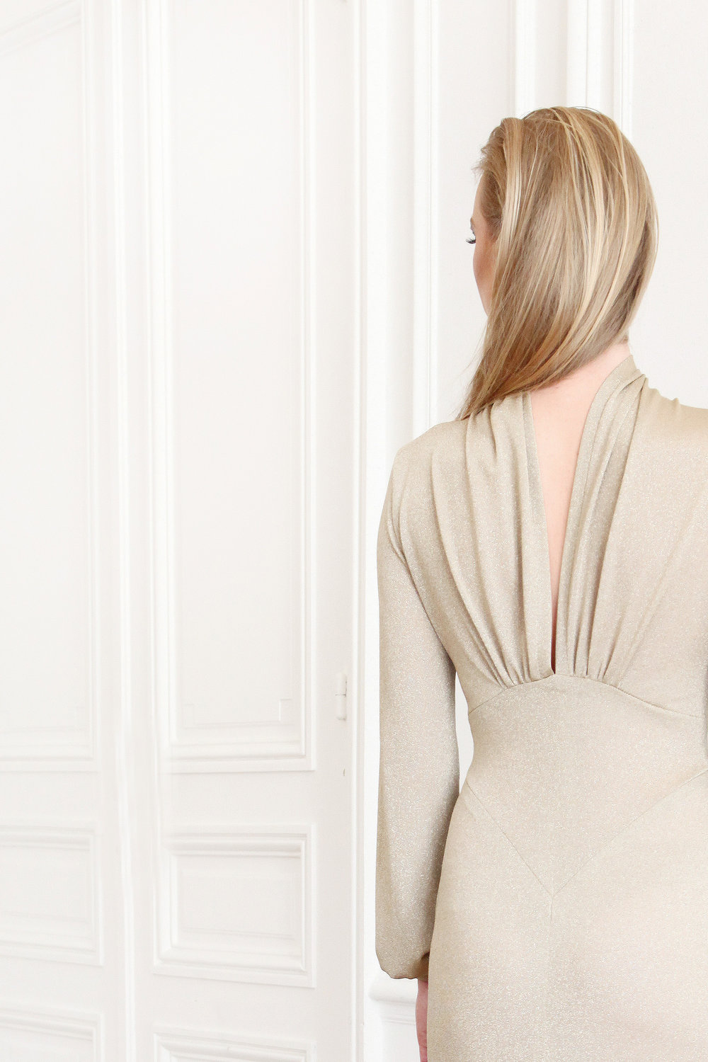 D'Or - Lurex blended Jersey Dress