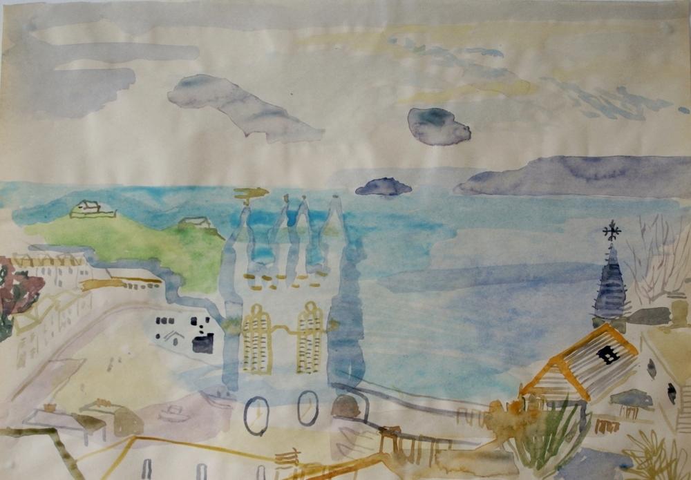 St Ives Harbour 22 x 32 cms watercolour