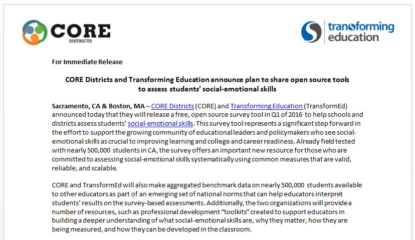 Student SEL Survey
