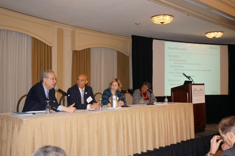 Panelists discussing the Condition of Education in MA | 01.21.2016