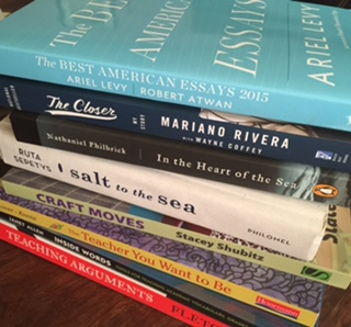 Keep a personal book pile visible...for you!