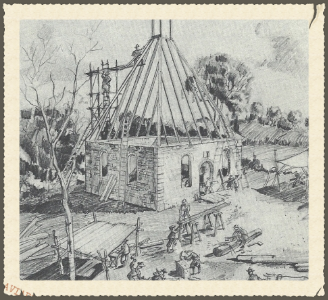 1724 church under construction