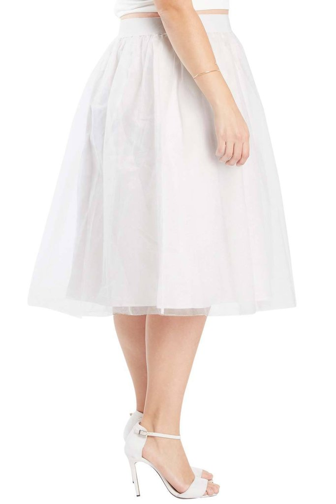 f9033d3dfe7 Mesh Tulle Midi Skirt - Plus Size — Shavarn Smith