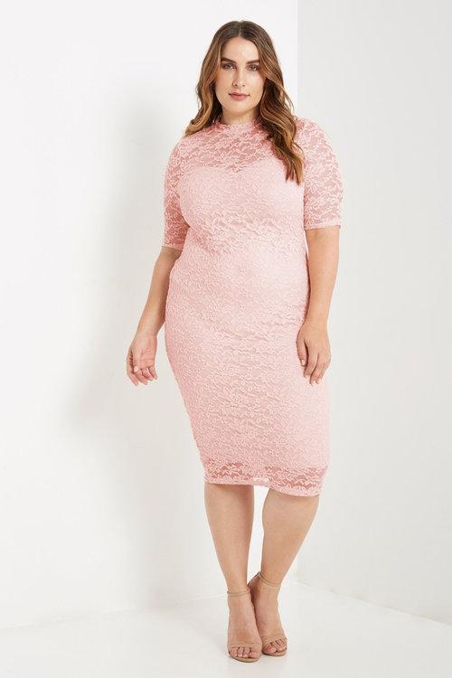 513be2a3792c Lace Midi Dress - Plus Size — Shavarn Smith