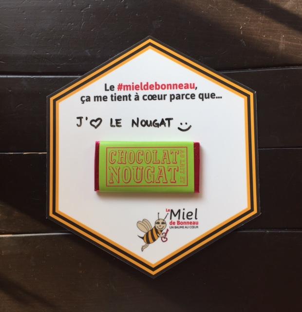CHOCOLATS DE CHLOÉ | Chocolat au lait et nougat au Miel de Bonneau
