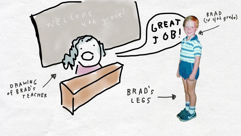 Brad circa 4th grade.