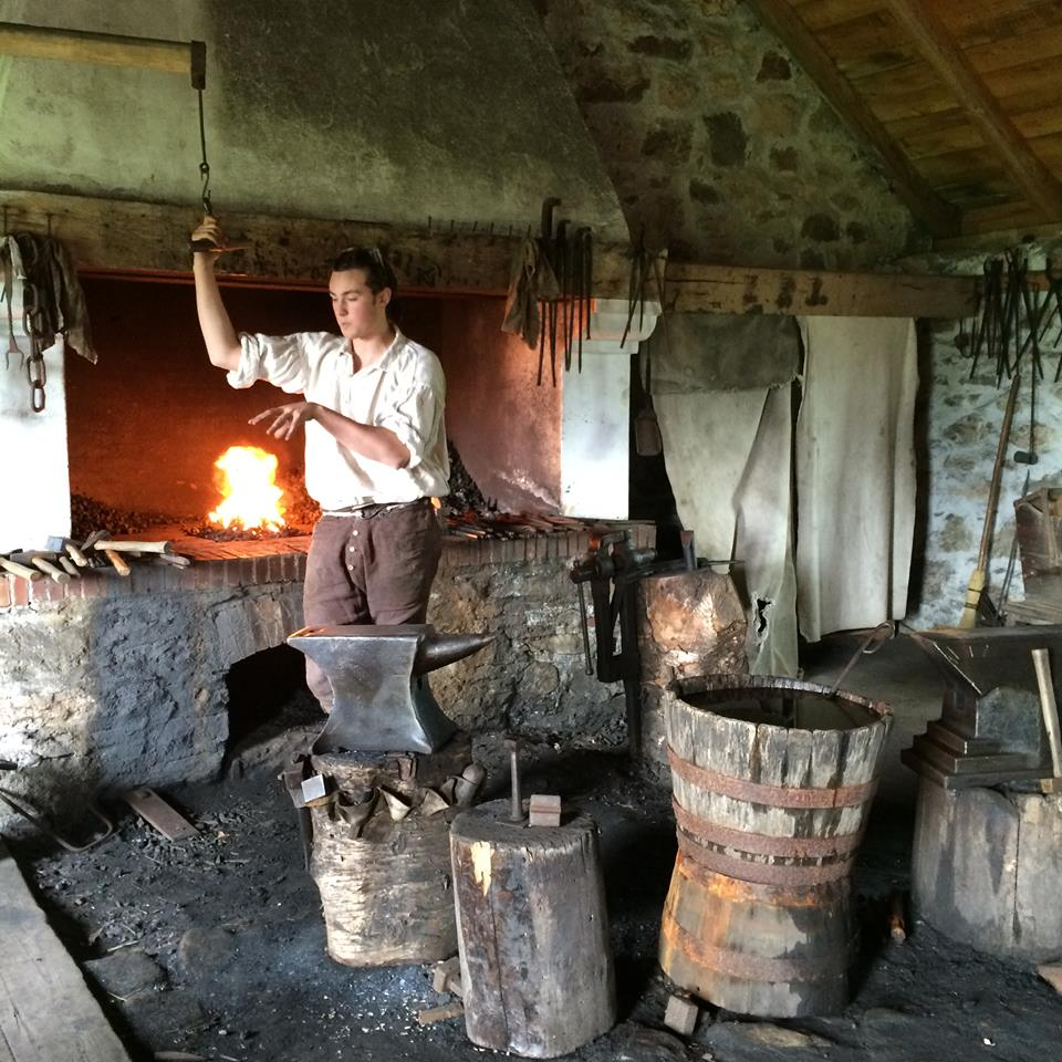 A period actor in the Artillery Forge - photo taken by Tari Anne Kareidis, a member of our Facebook group Haunted Nova Scotia and frequent contributor.