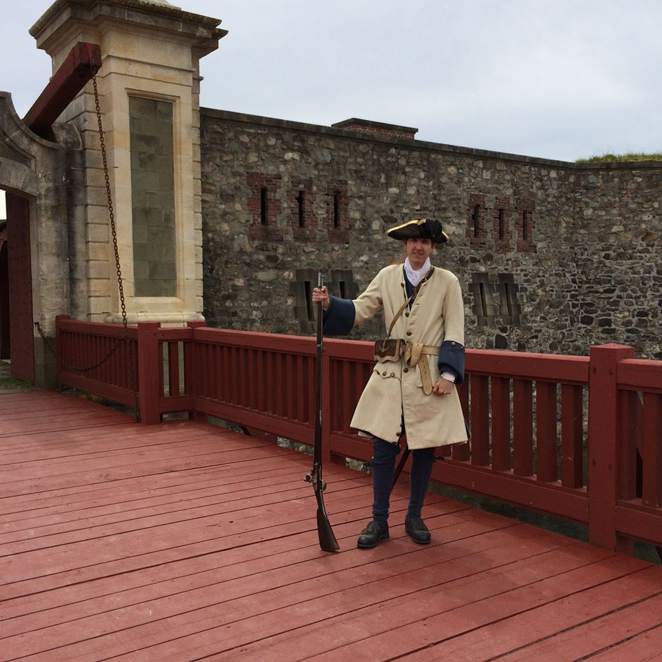 The guard at the Dauphin Gate - photograph taken by Tari Anne Kareidis, a member of our Facebook group Haunted Nova Scotia and frequent contributor.