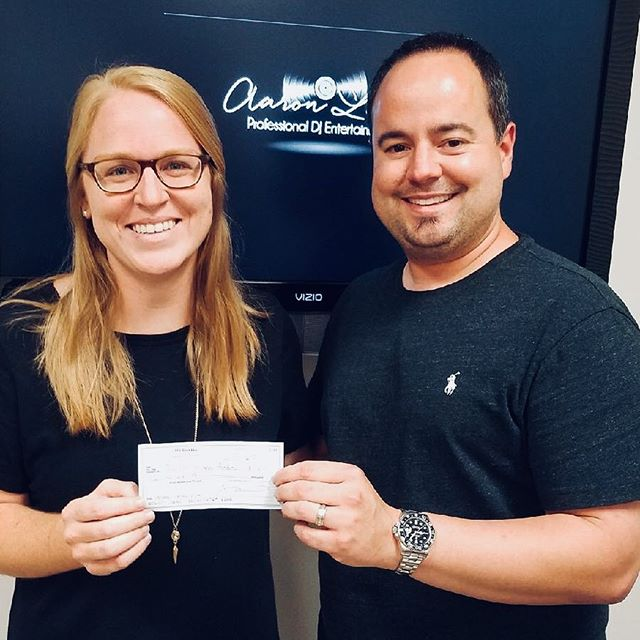 Thank you to Aaron Lane Entertainment for supporting our South Louisiana Giving Day efforts! We won their social media contest and received a $1000 prize! Check Aaron Lane Entertainment out for all your party/reception needs! #SOLA #SouthLouisianaGivingDay #iGiveSola