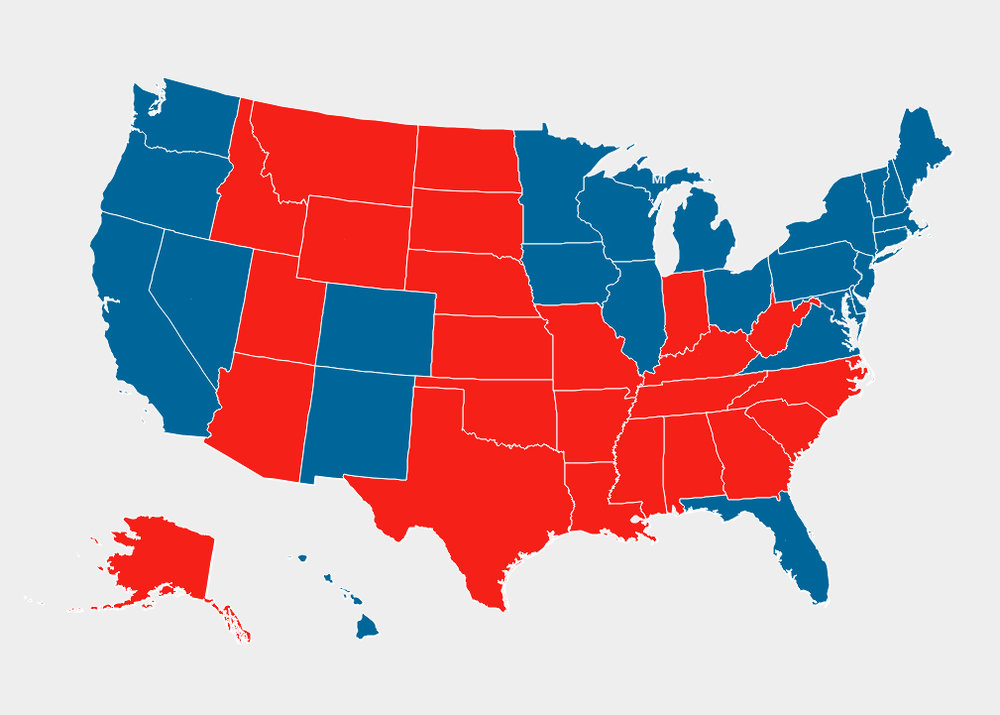 Geographic Map - 2012 Presidential election results