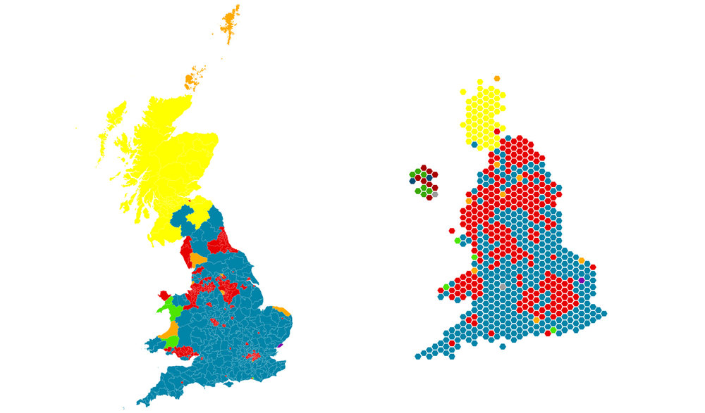 Map Of England 2016.Us Election 2016 Battle Of The Maps Communityhub