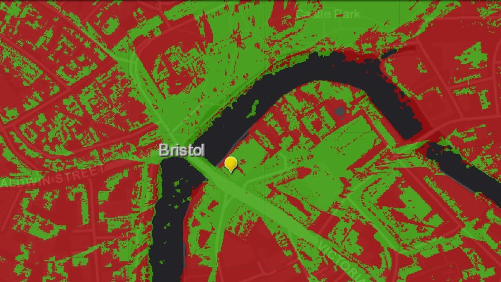 Viewshed Analysis of Bristol City | source: Esri UK