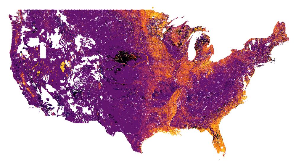 USA soils drainage class - inferno