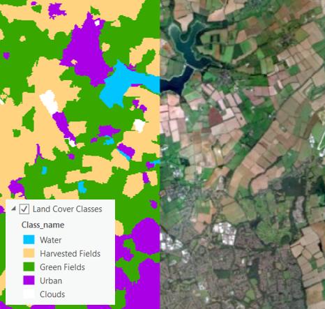 Support Vector Machine classification of fields around Northampton