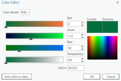 The many ways edit colours in the Color Editor!