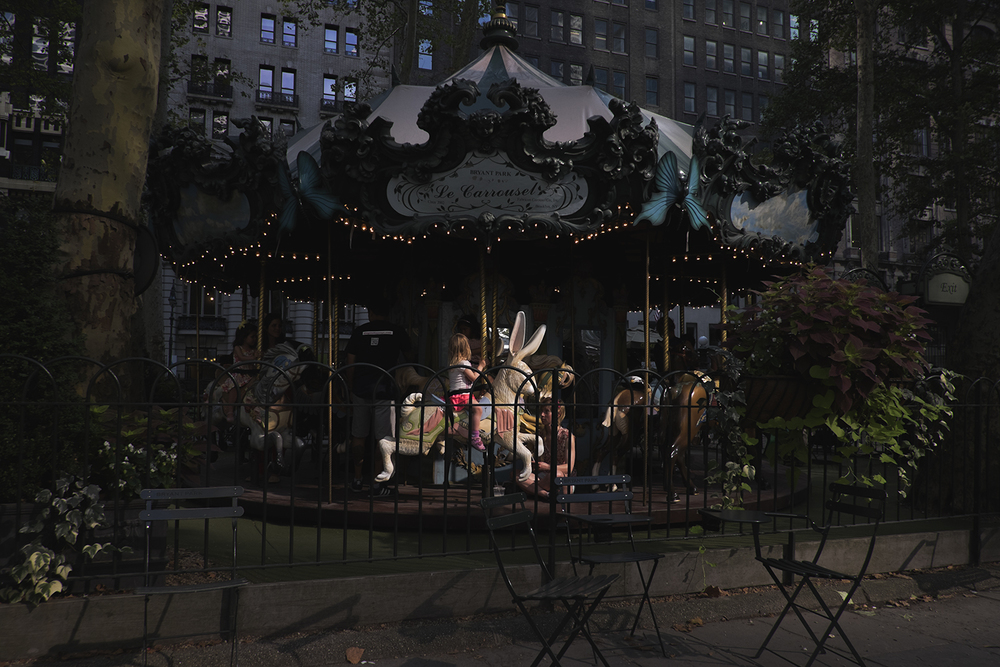 Le Carrousel in Bryant Park, Manhattan NY. 2015   ©Go Nakamura     photography