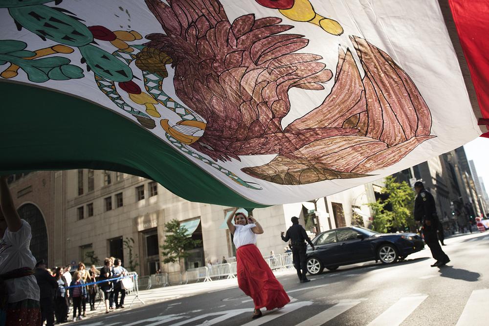 Hispanic Day Parade. 5th Ave Manhattan. 2015   ©    Go Nakamura     photography