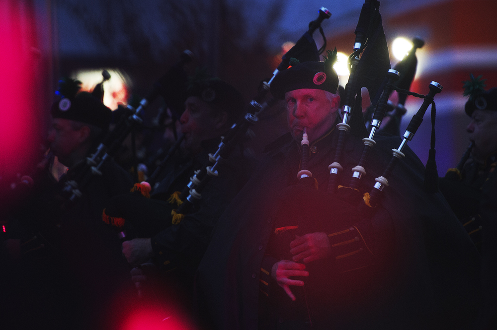 Bagpipers in Queens, NY. 2015