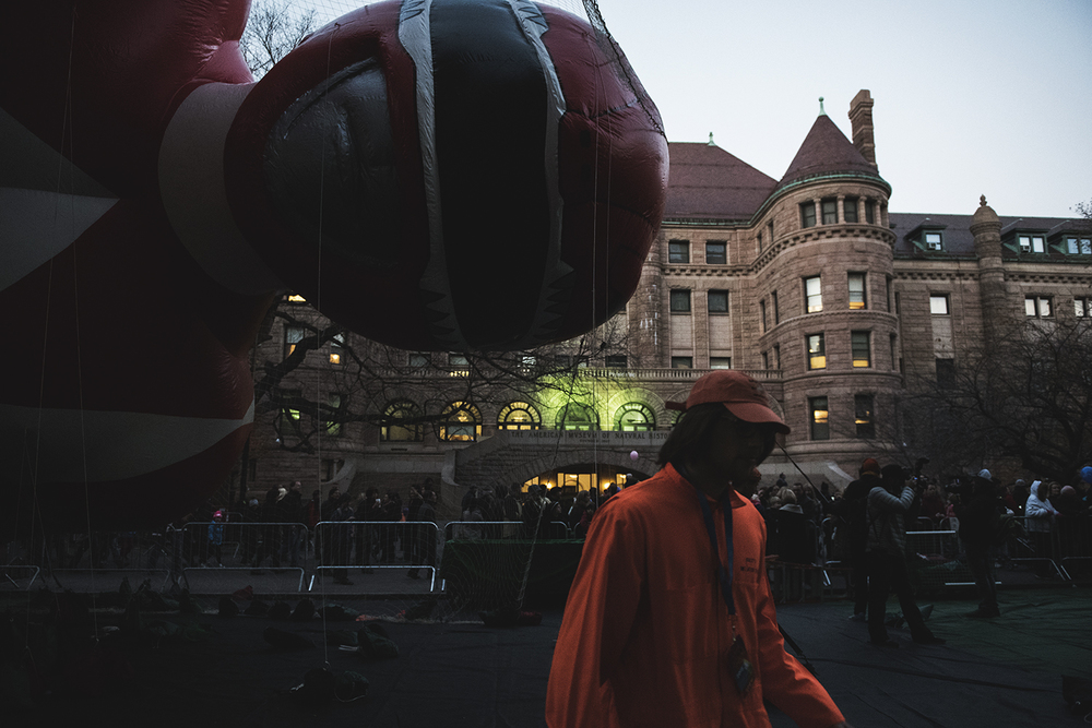 Macy's Balloon Inflation for Thanks Giving Day Parade took place on 77th St in Manhattan, NY. 2015   ©    Go Nakamura     photography