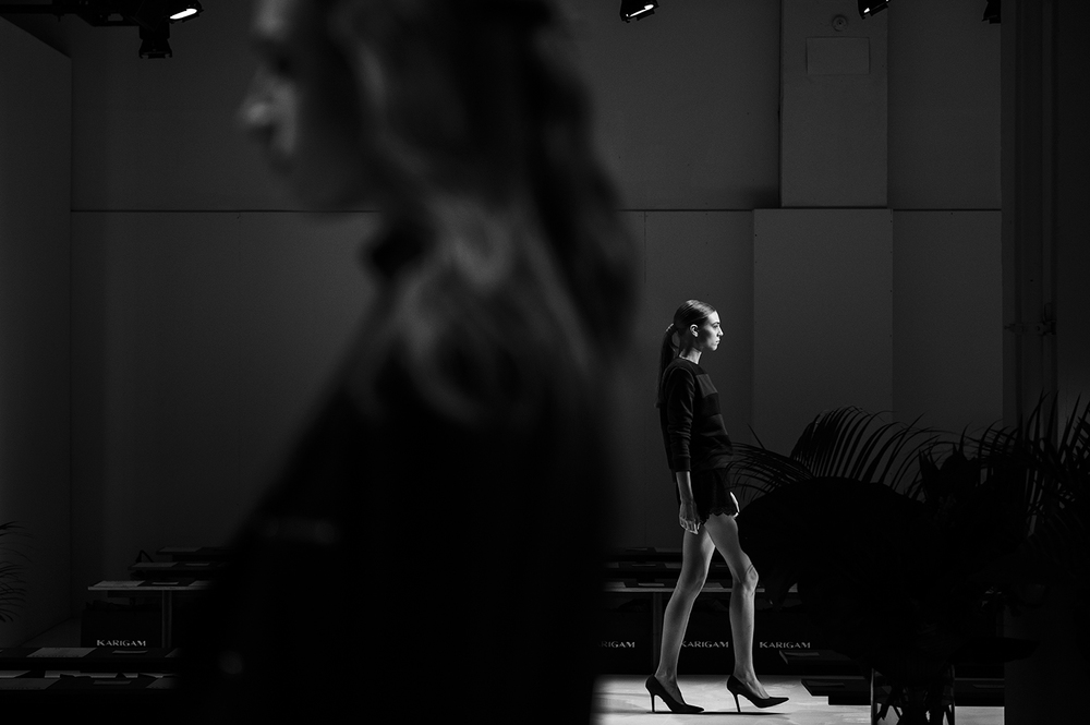 runway rehearsal before the show at New York Fashion Week. Manhattan, NY. 2016   ©    Go Nakamura     photography